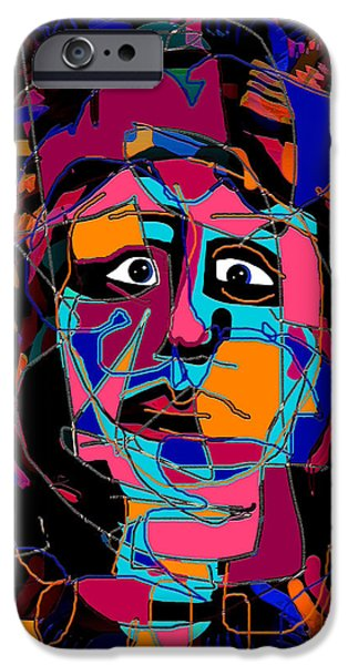 Feeling Blue iPhone Case by Natalie Holland