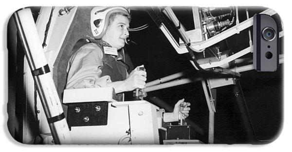 Mastif iPhone Cases - Female Astronaut Training iPhone Case by Nasa