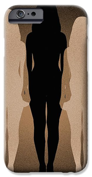 Female Identity, Conceptual Image iPhone Case by Victor De Schwanberg