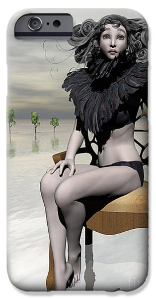Femme Avec Chaise iPhone Case by Sandra Bauser Digital Art