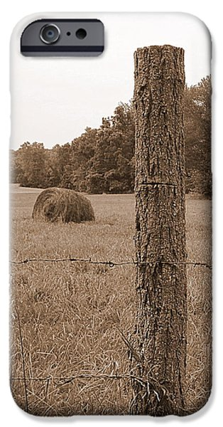 Fence and Field iPhone Case by Sheila Harnett