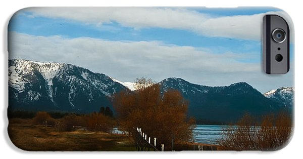 Willow Lake iPhone Cases - Fence Line iPhone Case by Mitch Shindelbower