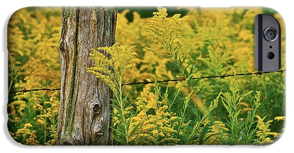 Nebraska iPhone Cases - Fence Post7139 iPhone Case by Michael Peychich