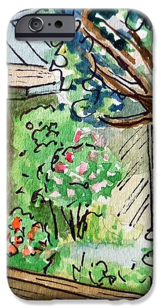 Fence Sketchbook Project Down My Street iPhone Case by Irina Sztukowski