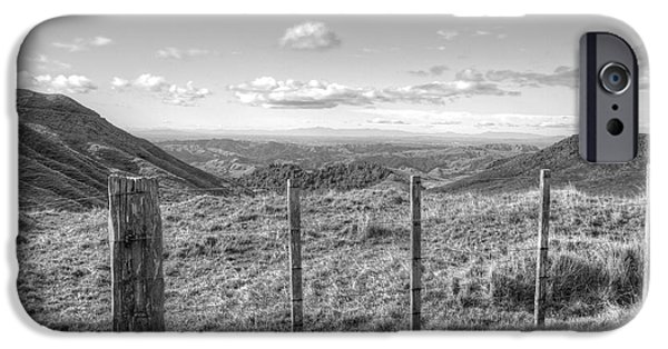 Agriculture iPhone Cases - Fenceline iPhone Case by Les Cunliffe