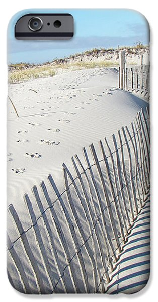 Fences Shadows and Sand Dunes iPhone Case by Mother Nature