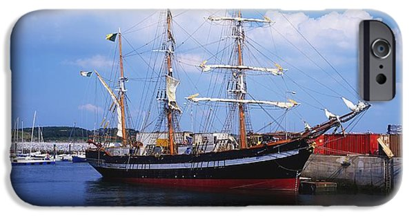 Tall Ship iPhone Cases - Fenit, Co Kerry, Ireland Famine Ship iPhone Case by The Irish Image Collection