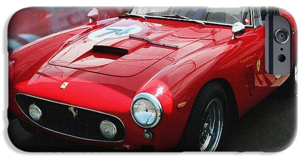 Indy Car iPhone Cases - Ferrari 250 GT Short Wheel Base iPhone Case by Curt Johnson