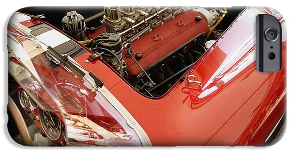 Indy Car iPhone Cases - Ferrari 250 TR Engine and Dash iPhone Case by Curt Johnson