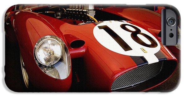 Indy Car iPhone Cases - Ferrari 250 TR Night Life iPhone Case by Curt Johnson