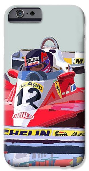 Ferrari 312 T3 1978 canadian GP iPhone Case by Yuriy  Shevchuk