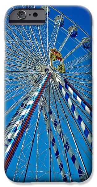 Pleasure iPhone Cases - Ferris Wheel - Nuremberg  iPhone Case by Juergen Weiss