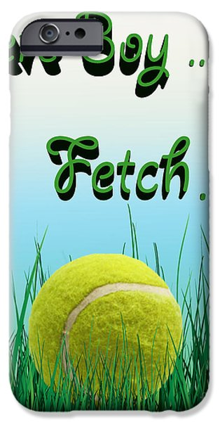 Puppy Lover iPhone Cases - Fetch iPhone Case by Cheryl Young
