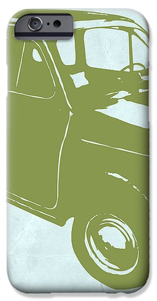Fiat 500 iPhone Case by Naxart Studio