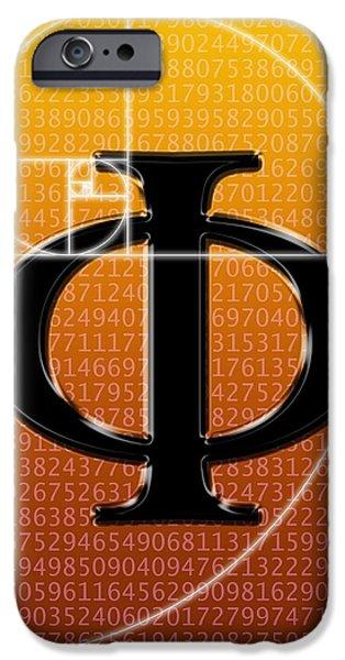 Fibonacci Spiral And Phi, Artwork iPhone Case by Seymour