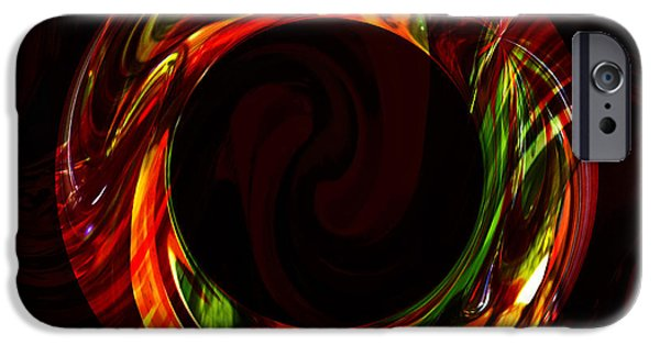 Digitally Created iPhone Cases - Fiery Circle iPhone Case by Cheryl Young