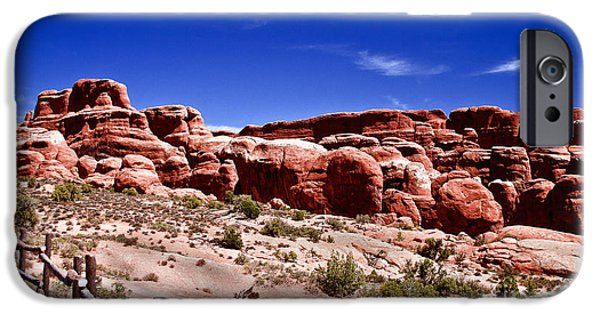 Haybale iPhone Cases - Fiery Furnace iPhone Case by Robert Bales