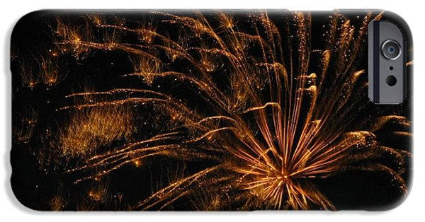 4th July Photographs iPhone Cases - Fiery iPhone Case by Rhonda Barrett