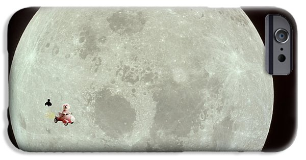 Happy Posters iPhone Cases - Fifi the Astronut iPhone Case by Michael Ledray