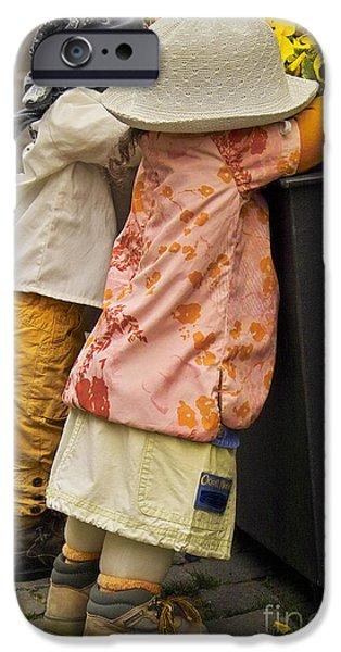 Figurines in rural dresses iPhone Case by Heiko Koehrer-Wagner