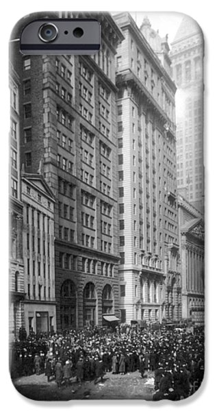 1920 iPhone Cases - FINANCIAL CENTER, c1920 iPhone Case by Granger