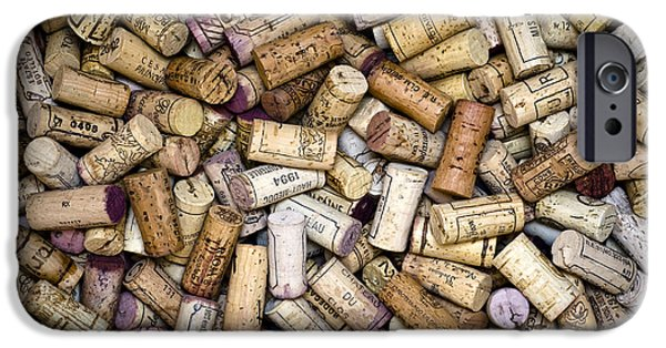 Cellar iPhone Cases - Fine Wine Corks iPhone Case by Frank Tschakert