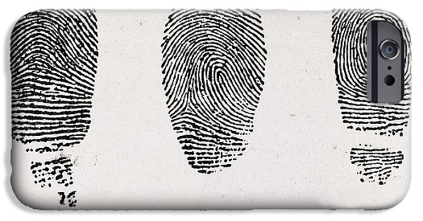 Caption iPhone Cases - Fingerprint Types, 17th Century iPhone Case by Middle Temple Library