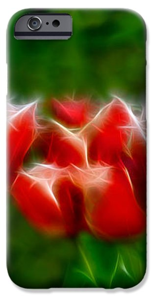 Fire and Ice Fractal  iPhone Case by Peter Piatt