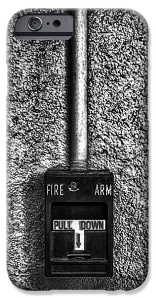 Fine Art Abstract iPhone Cases - Fire Arm Pull Down iPhone Case by Bob Orsillo