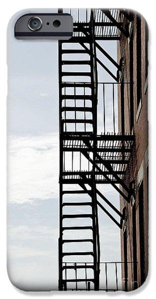 Fire escape in Boston iPhone Case by Elena Elisseeva