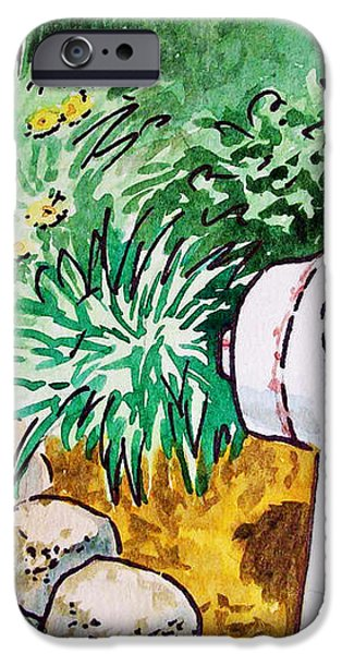 Fire Hydrant Sketchbook Project Down My Street iPhone Case by Irina Sztukowski