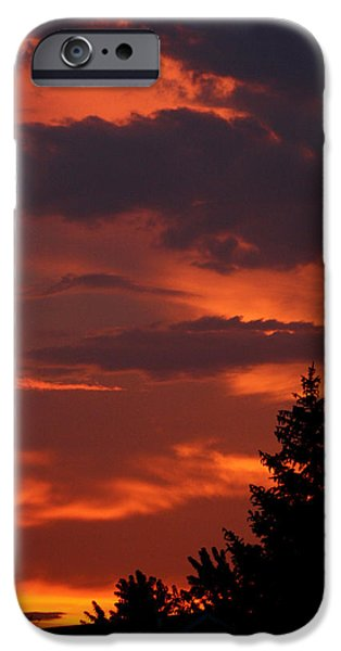 Sillouhuette iPhone Cases - Fire in the Night iPhone Case by Dan McCafferty