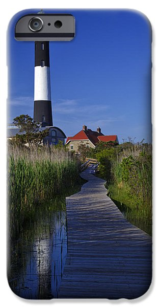 Blue Sky Reflection iPhone Cases - Fire Island Reflection iPhone Case by Rick Berk