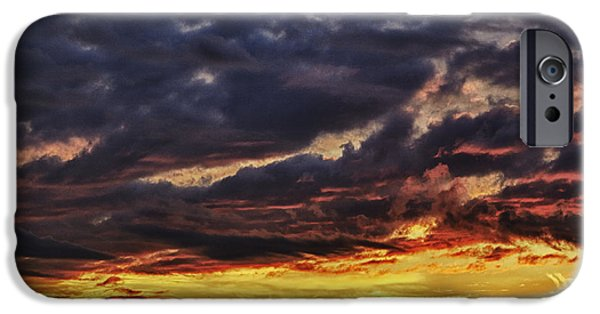 Approaching iPhone Cases - Fire Lake iPhone Case by Skip Nall