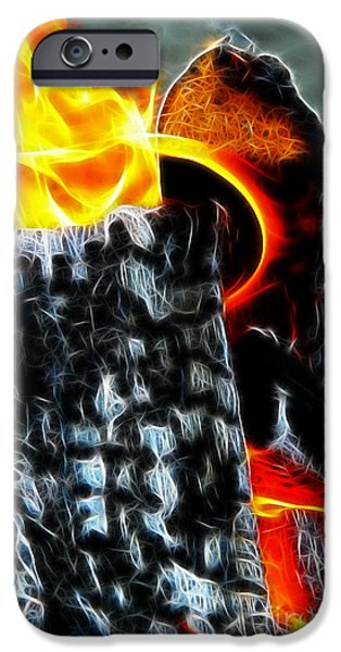 Fourth Of July iPhone Cases - Fire Magic iPhone Case by Mariola Bitner