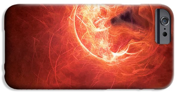 Sparks iPhone Cases - Fire Moon iPhone Case by Scott Norris