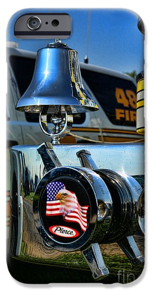 Paul Pierce iPhone Cases - Fire truck bell iPhone Case by Paul Ward