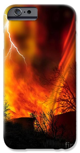 Combustion iPhone Cases - Fire Whirl iPhone Case by Victor Habbick Visions and Photo Researchers