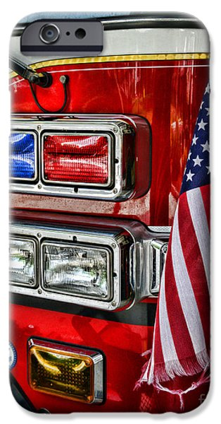 Paul Pierce iPhone Cases - Fireman - fire truck iPhone Case by Paul Ward