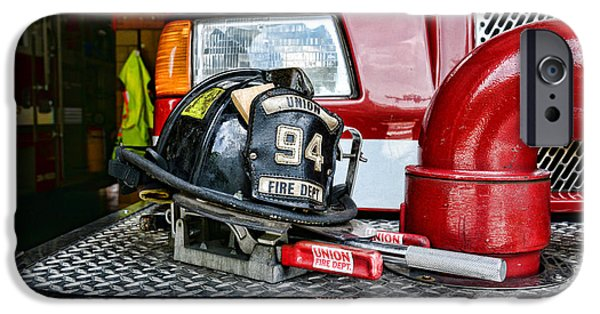 Paul Pierce iPhone Cases - Fireman - Helmet iPhone Case by Paul Ward