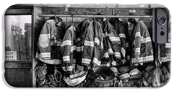 Paul Pierce iPhone Cases - Fireman - Jackets Helmets and Boots iPhone Case by Paul Ward