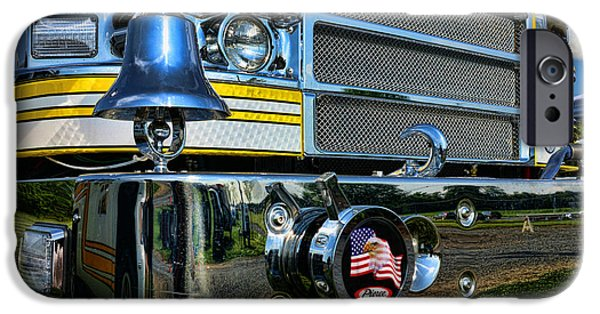 Paul Pierce iPhone Cases - Fireman - Pierce Fire Truck iPhone Case by Paul Ward