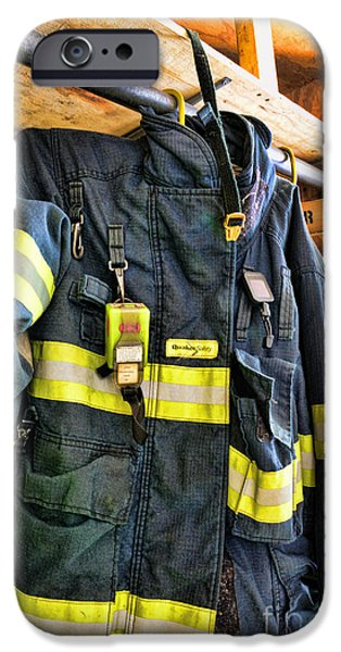 Paul Pierce iPhone Cases - Fireman - Saftey Jacket iPhone Case by Paul Ward