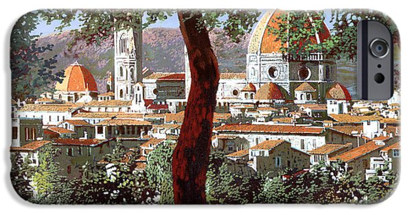 Italy iPhone Cases - Firenze iPhone Case by Guido Borelli