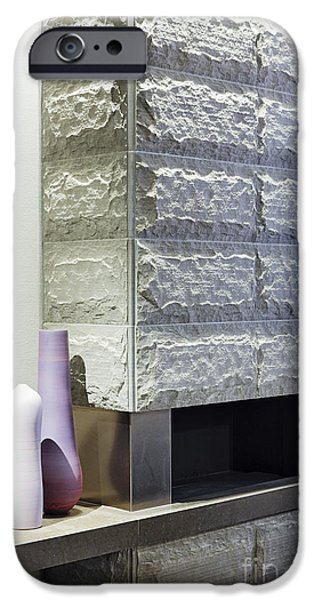 Stainless Steel iPhone Cases - Fireplace iPhone Case by Jeremy Woodhouse