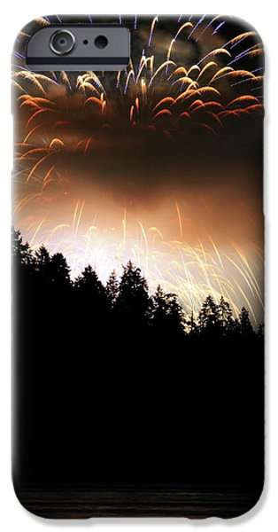 Firework display at the celebration of light in Vancouver Canada 2011 iPhone Case by Pierre Leclerc Photography