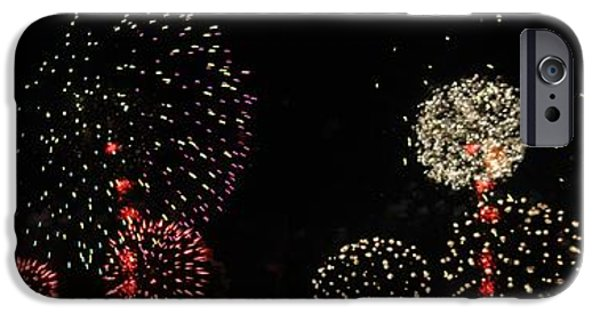 Fourth Of July iPhone Cases - Firework lifecycle 3 iPhone Case by Meandering Photography