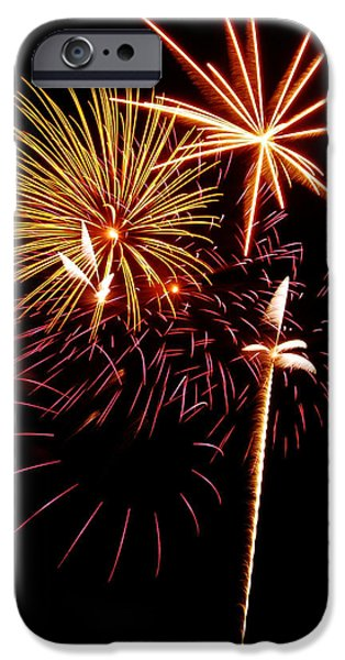 Fourth Of July iPhone Cases - Fireworks 1 iPhone Case by Michael Peychich