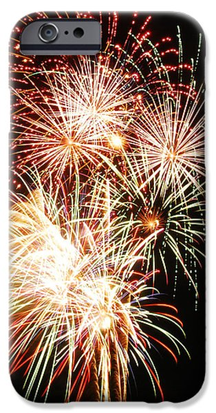 Pyrotechnics iPhone Cases - Fireworks 1569 iPhone Case by Michael Peychich
