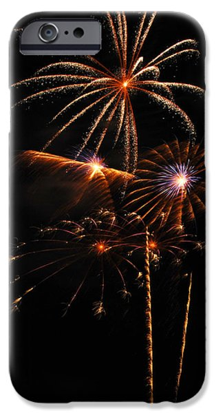 4th July iPhone Cases - Fireworks 1580 iPhone Case by Michael Peychich